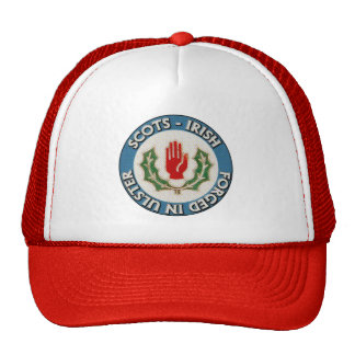 Scots-Irish - Forged in Ulster trucker hat. Cap