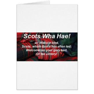 Scots Wha Hae-Tartan Card