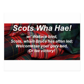 Scots Wha Hae-Tartan Post Cards