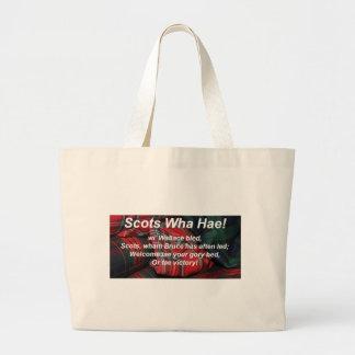 Scots Wha Hae-Tartan Tote Bags