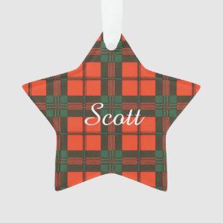Scott clan Plaid Scottish tartan Ornament