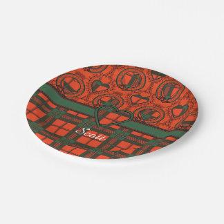 Scott clan Plaid Scottish tartan Paper Plate