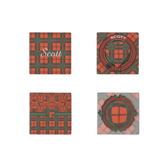 Scott clan Plaid Scottish tartan Stone Magnet