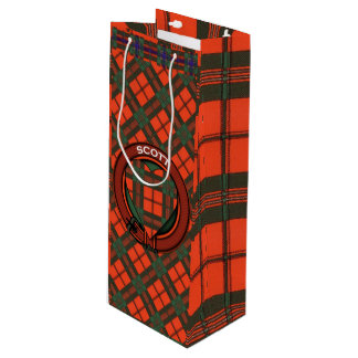Scott clan Plaid Scottish tartan Wine Gift Bag