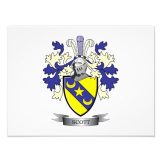Scott Family Crest Coat of Arms Photo