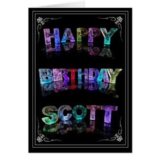 Scott - Name in Lights greeting card (Photo)