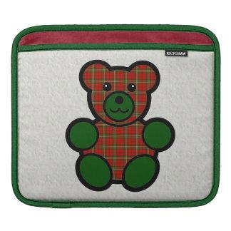 Scott Tartan Plaid Teddy Bear Sleeves For iPads