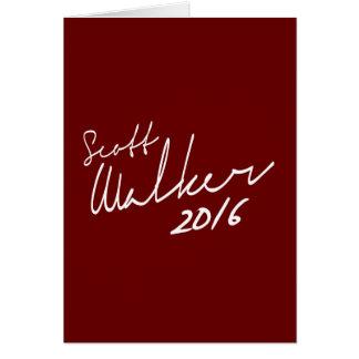 Scott Walker Autograph 2016 - Election 2016 - whit Card