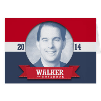 SCOTT WALKER CAMPAIGN GREETING CARD