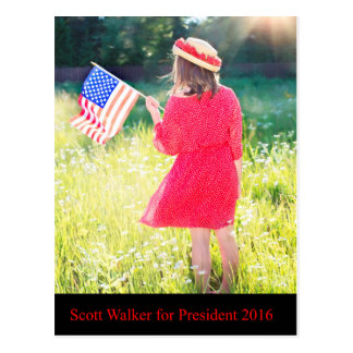Scott Walker for President 2016 Postcard