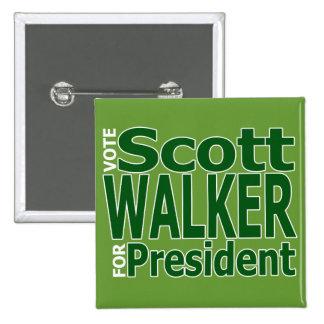 Scott Walker For President Pinback Buttons