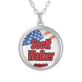 Scott Walker for president in 2016 Round Pendant Necklace