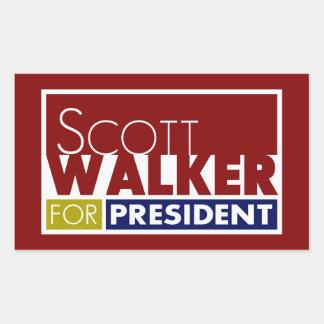 Scott Walker for President V1 Rectangular Sticker