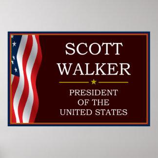 Scott Walker for President V3 Poster