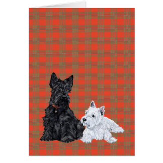 Scottie Adult & Westie Puppy Card