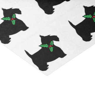 Scottie and Holly Tissue Paper