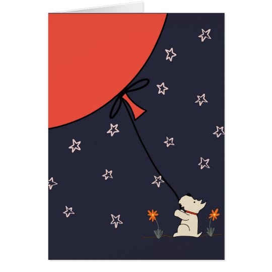 Scottie and the Big Red Balloon Card