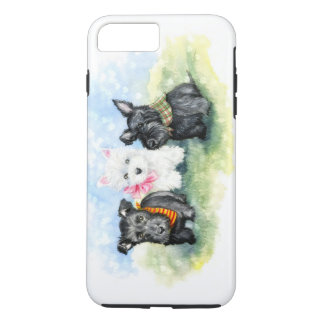 Scottie and Westie puppy magic iPhone 8 Plus/7 Plus Case
