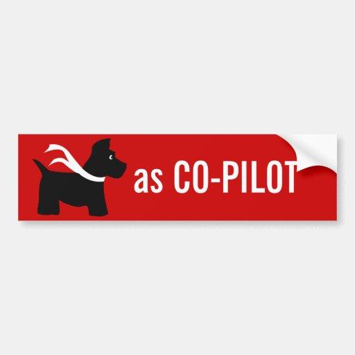 Scottie  as CO-PILOT Bumper Stickers