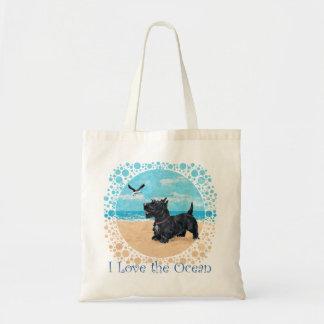 Scottie at the Beach Canvas Bag