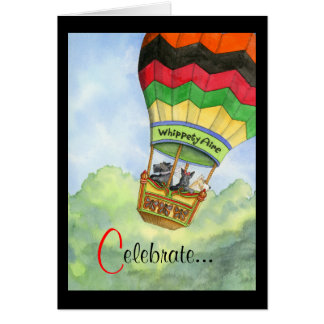 Scottie ballooning celebration card