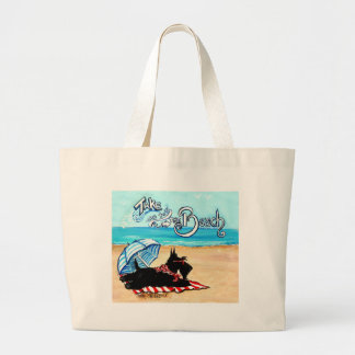 Scottie Beach Tote Bag
