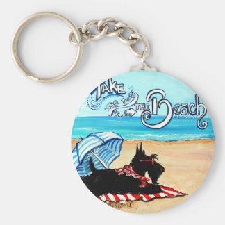 Scottie Beach Basic Round Button Key Ring