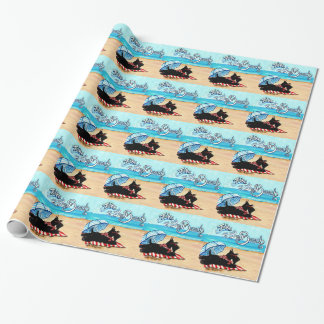 Scottie Beach Wrapping Paper