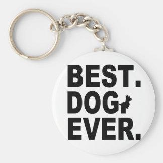 SCOTTIE BEST DOG EVER KEYCHAINS