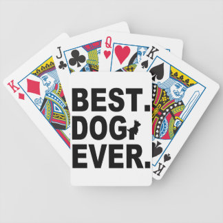 SCOTTIE BEST DOG EVER BICYCLE PLAYING CARDS