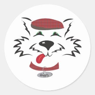 Scottie Boy Round Sticker