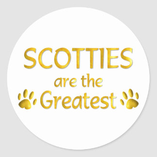 Scottie Classic Round Sticker