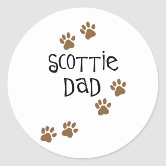 Scottie Dad Classic Round Sticker