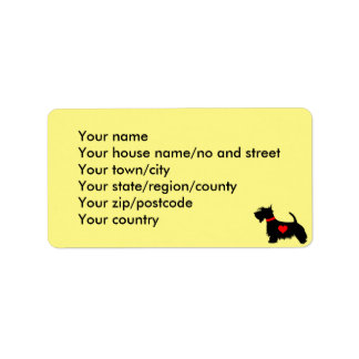 scottie dog address labels