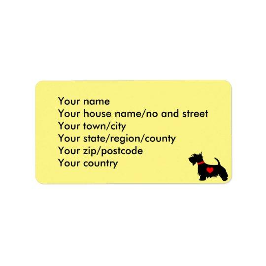 scottie dog address labels