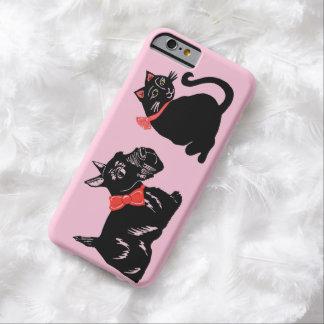 Scottie Dog and Black Cat Pink iPhone 6 Case