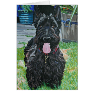 Scottie dog art card