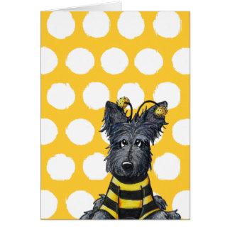 Scottie Dog Bee Card