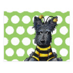 Scottie Dog Bee Post Card