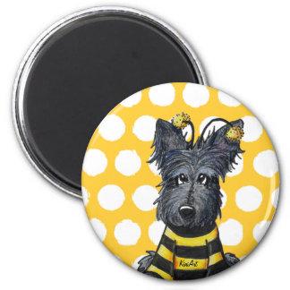 Scottie Dog Bee Refrigerator Magnet
