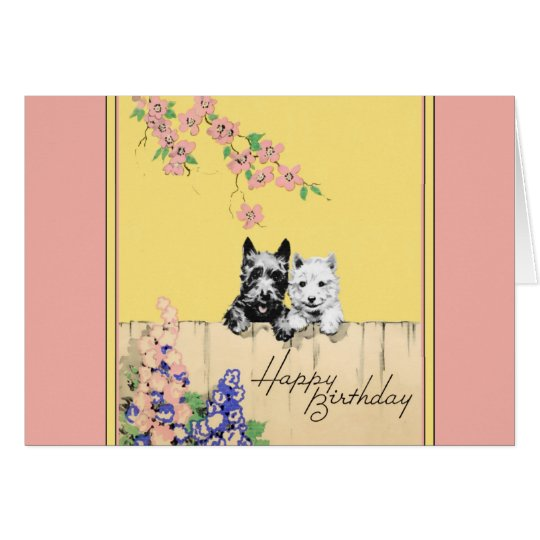 Scottie Dog Birthday card for a lady or