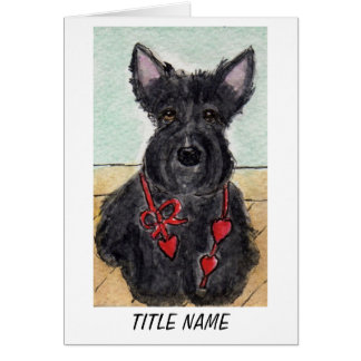 Scottie Dog birthday card Personalise