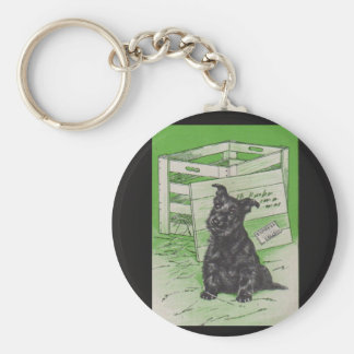Scottie dog by special delivery basic round button key ring