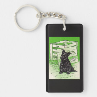 Scottie dog by special delivery Double-Sided rectangular acrylic key ring