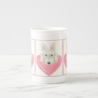 Scottie dog china mug