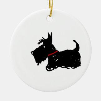 Scottie Dog Christmas Ornament