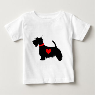 Scottie dog heart baby T-shirt