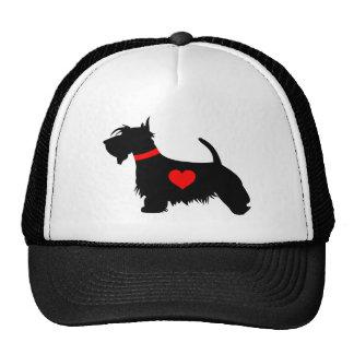 Scottie dog heart hat