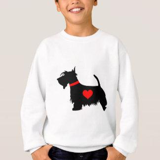 Scottie dog heart kids sweatshirt