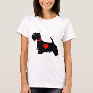Scottie dog heart ladies T-shirt